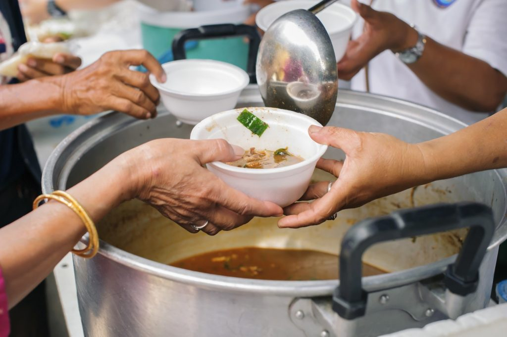 The Concept of Donating Food to the Poor in Society : concepts of poverty in Asian